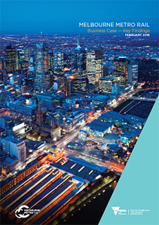 Cover of the Melbourne Metro Rail Project Business Case