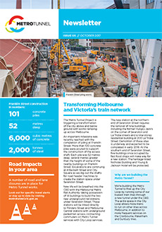 Cover of issue 5 of the Metro Tunnel newsletter