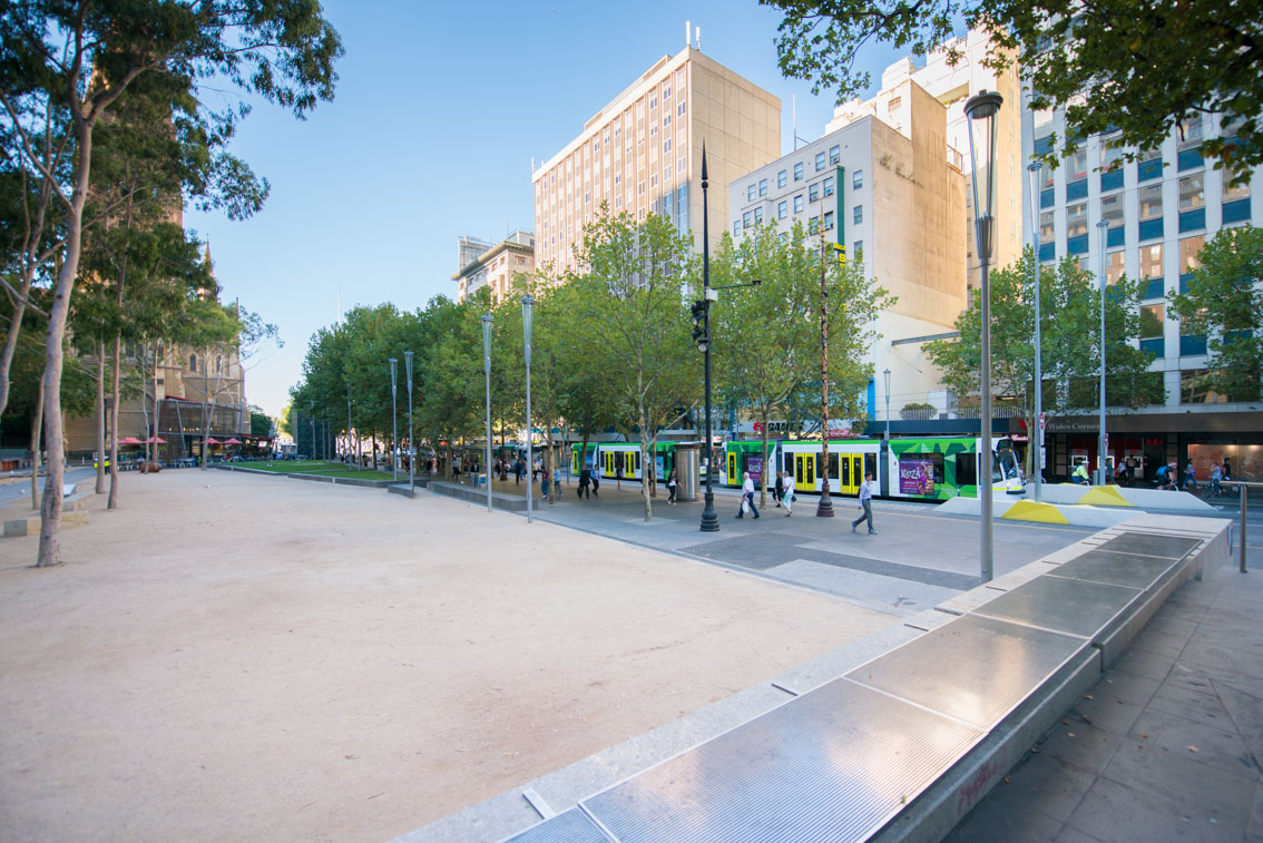 City Square from Collins Street, March 2017.