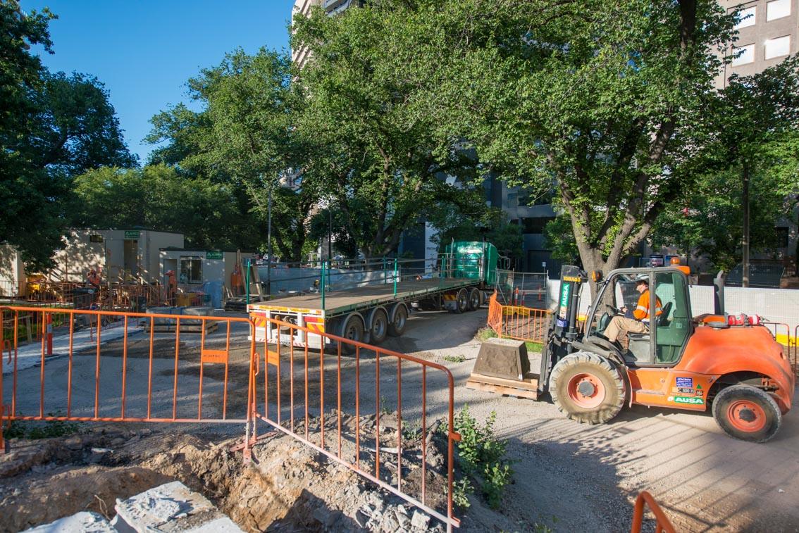 Albert Road Reserve work site, December 2017.