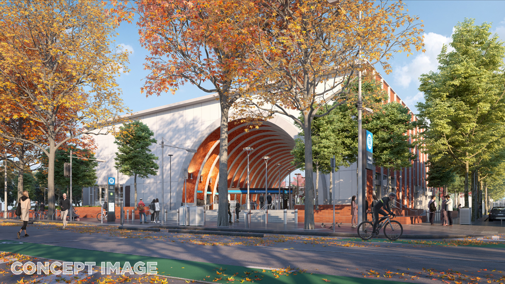 North Melbourne Station entrance