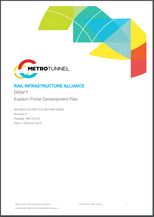 Eastern Portal Development Plan