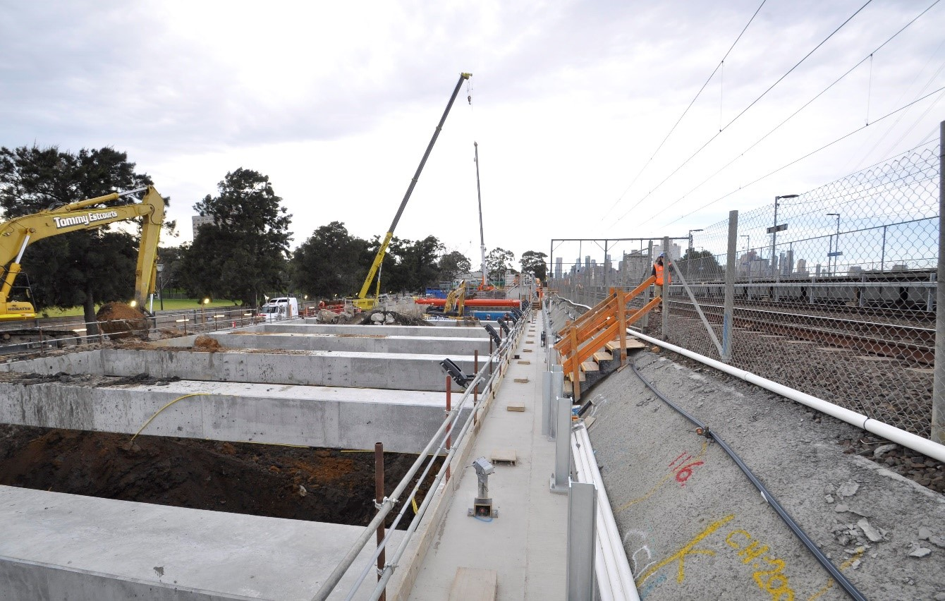 Construction in Kensington, September 2020