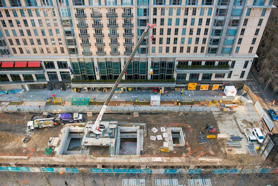 City Square work site from above, August 2017.