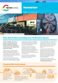 Cover of issue 7 of the Metro Tunnel newsletter