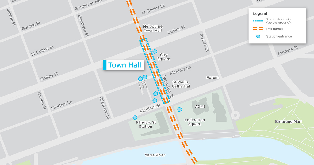 CBD South Station map