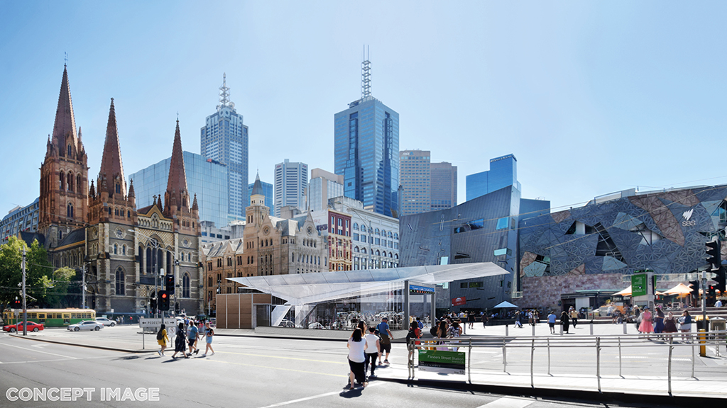 Town Hall Station - Federation Square entrance