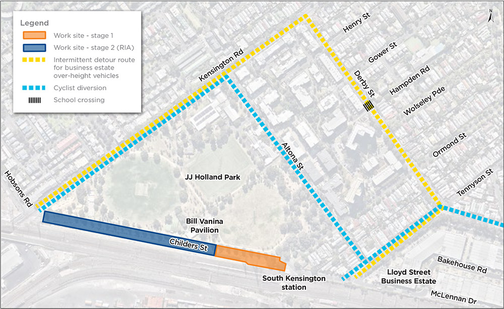 Map:  – Childers Street long-term closure