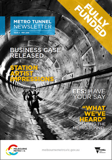 Cover of issue 3 of the Metro Tunnel newsletter