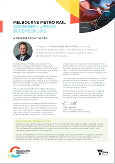 Cover of the November 2015 community update