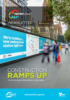 Cover of issue 4 of the Metro Tunnel newsletter