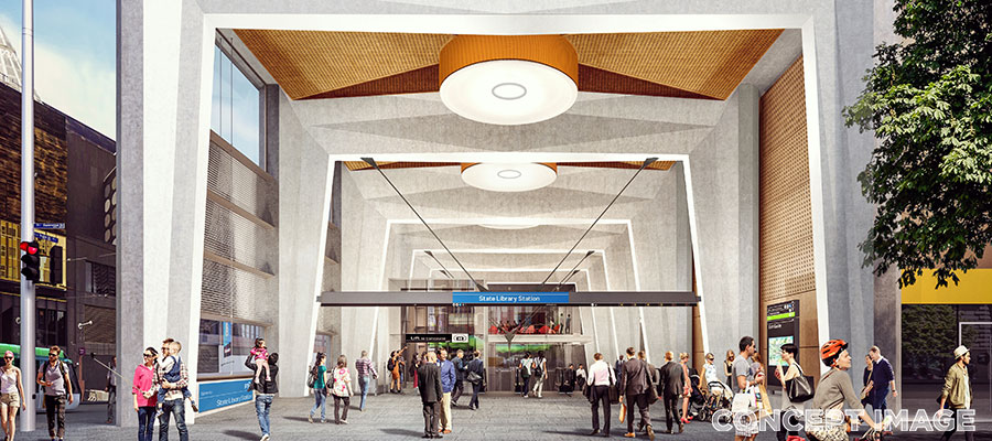 State Library Station design